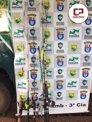 Polícia Ambiental de Umuarama encaminha 4 pessoas para delegacia por pesca ilegal
