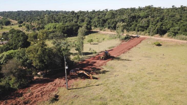 Estrada Nakata recebe melhorias no distrito de Serra dos Dourados