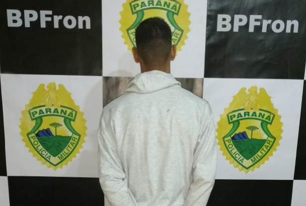 BPFron realiza prisão de um homem com mandado de prisão em aberto na cidade de Guaíra-PR