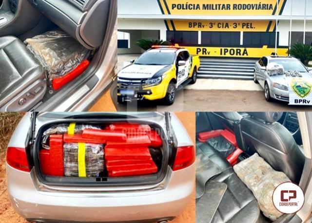PRE de Iporã apreende veículo carregado com mais de 350 de entorpecentes