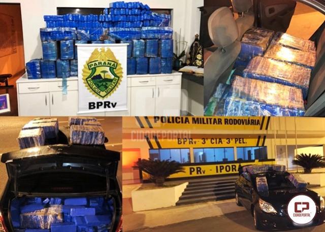 PRE de Iporã apreende veículo carregado com mais de 495 kg de maconha