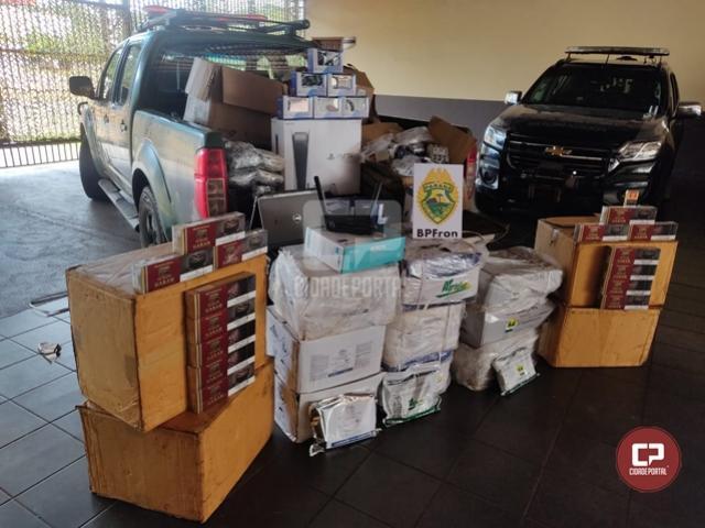 BPFron apreende volumes com contrabando em Guaíra durante Operação Hórus