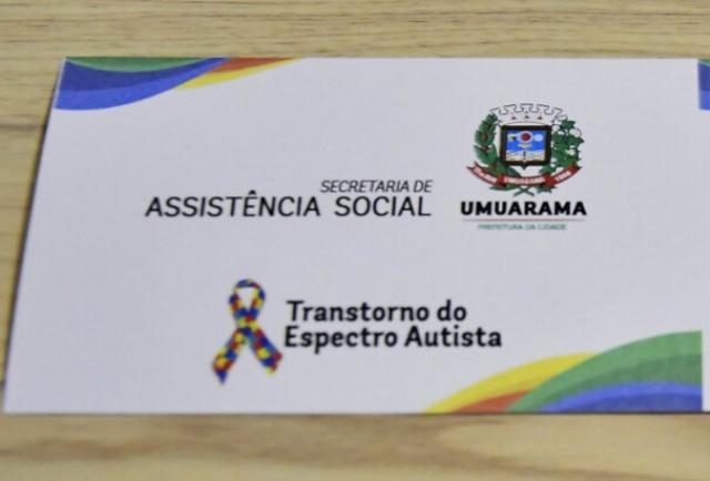 Carteirinha do Autista deve ser retirada na Assistência Social de Umuarama a partir de segunda-feira, 01