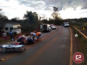 Acidente entre Jesuítas à Iracema do Oeste deixa 5 pessoas feridas