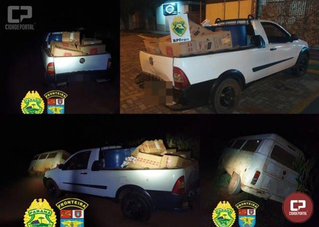 BPFRON apreende veículos com contrabando em Guaíra durante Operação Hórus