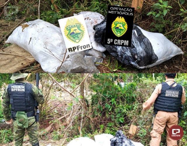 BPFron apreende mais de 40 kg de maconha em Guaíra