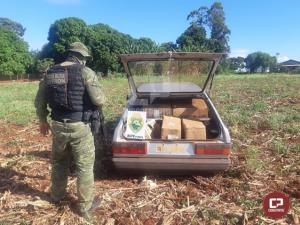 BPFron apreende veículo carregado com cigarros contrabandeados durante Operação Hórus em Guaíra