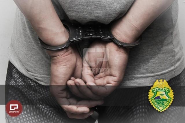 BPFron prende homem com mandado de prisão em aberto na cidade de Guaíra