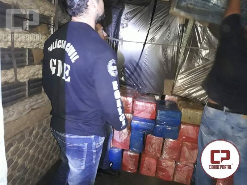 Grupo GDE da Polícia Civil de Umuarama apreende 2.990 quilos de maconha
