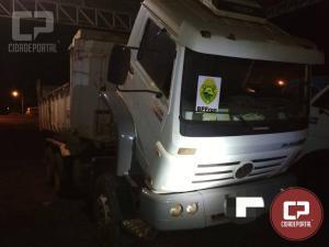 BPFron recupera caminhões com indicativo de furto e roubo na cidade de Toledo-PR