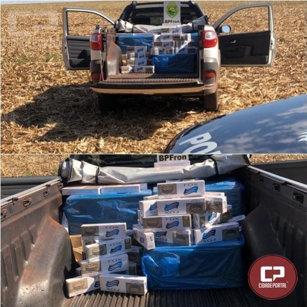 BPFron apreende veículo carregado com cigarros contrabandeados na cidade de Terra Roxa/PR