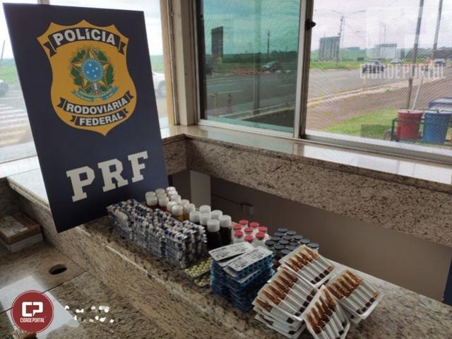 PRF realiza apreensão de medicamentos e anabolizantes em Sta Terezinha de Itaipu