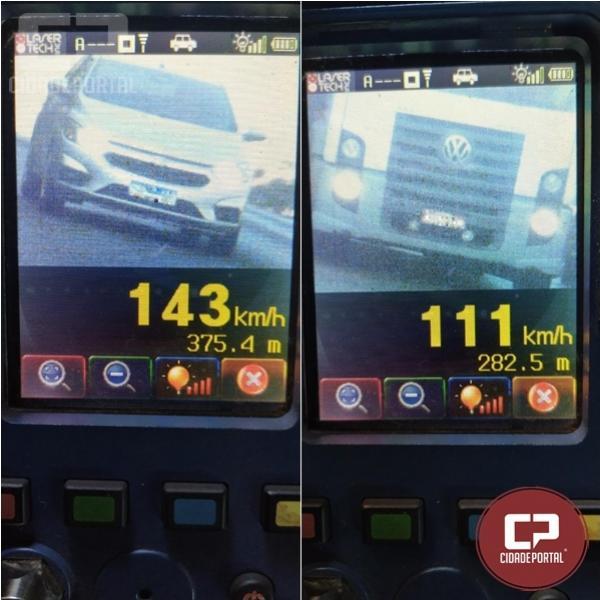 Durante operação radar em Cascavel PRE autua 26 motoristas por excesso de velocidade