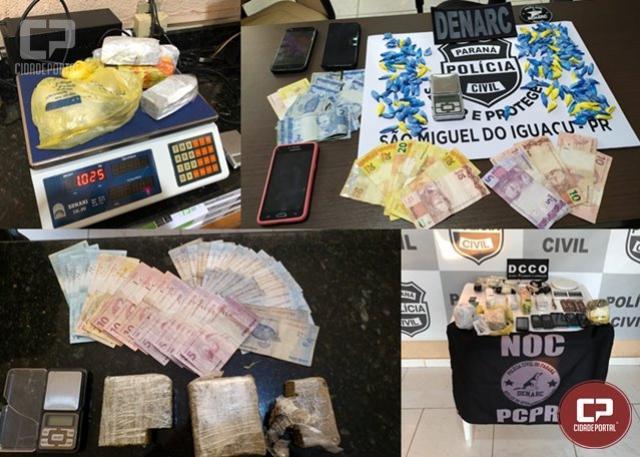 Denarc de Cascavel deflagra operação policial visando o combate ao tráfico de drogas