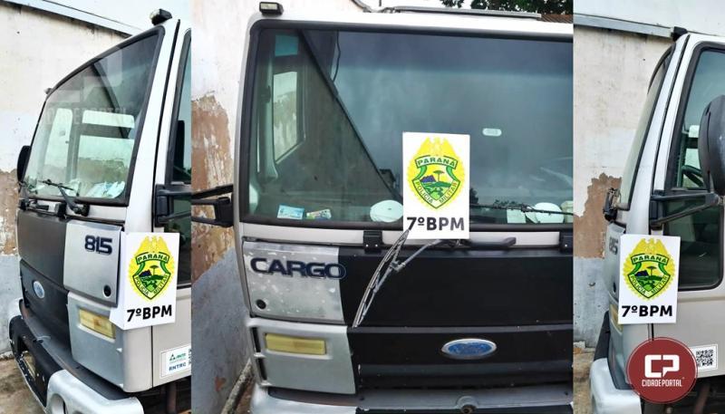 Polícia Militar de Mariluz recupera Caminhão roubado em São Paulo