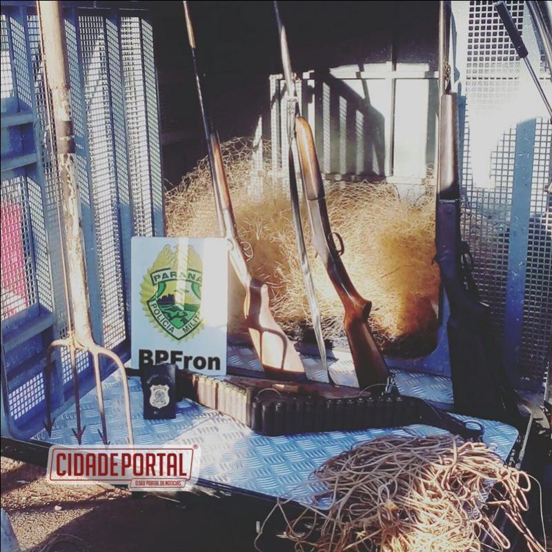 Operação Guariba deflagada na fronteira coma Argentina prendem 4 pessoas, armas, munições e carne de animais silvestres