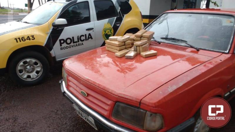 Polícia Rodoviária Estadual de Assis Chateaubriand apreende 22Kg de maconha durante fiscalização