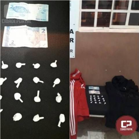 Polícia Militar prende jovem acusado de furto e tráfico de drogas em Peabiru