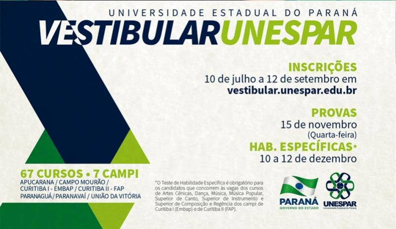 Unespar realiza lançamento do vestibular na segunda-feira dia 10