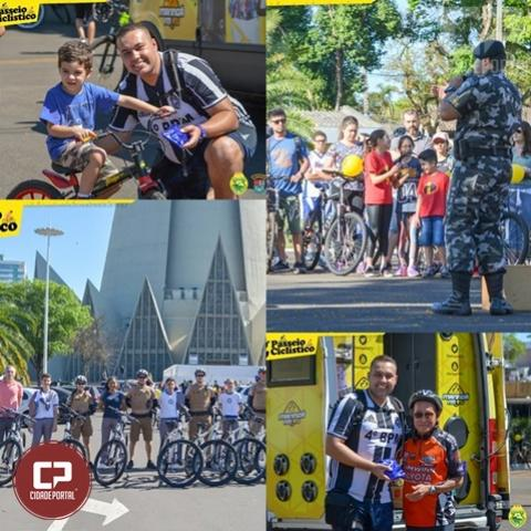 2º passeio ciclístico do 4º BPM conta com a presença de mais de 200 participantes em Maringá