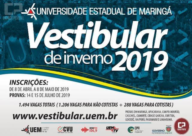 UEM abre inscrições do Vestibular, confira os cursos disponíveis em Goioerê e Região!