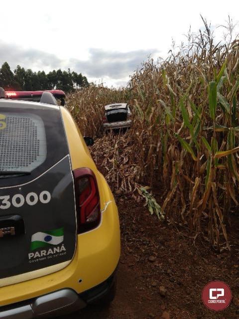 Veículo roubado em Moreira Sales foi recuperado pela Polícia Militar de Goioerê