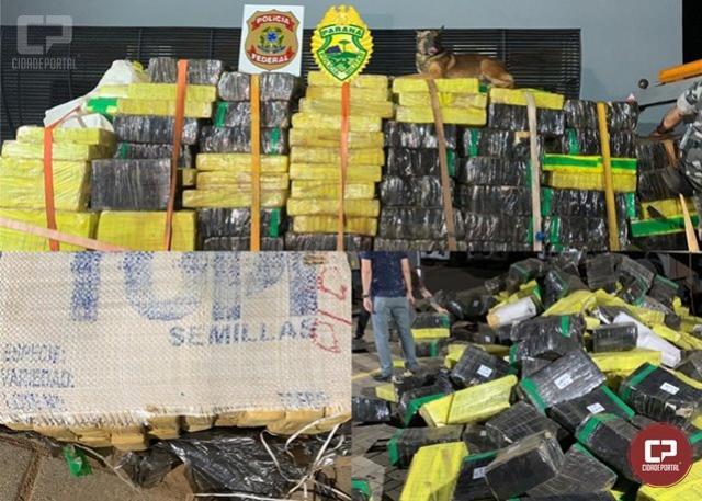 Ação conjunta da Polícia Militar e Polícia Federal apreende 6,6  toneladas de maconha em Maringá