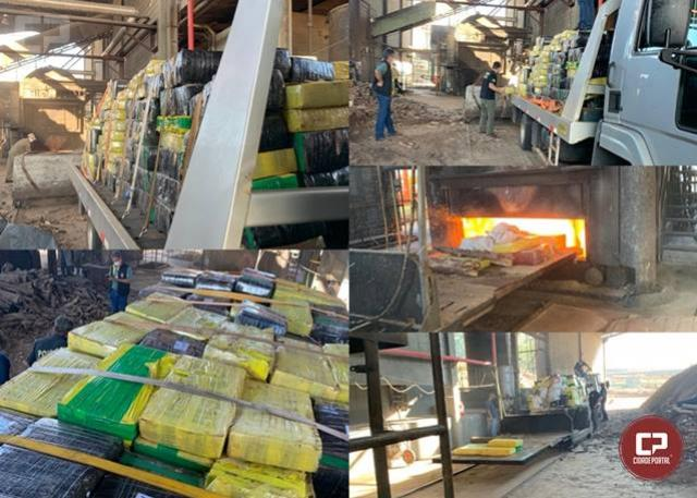 Polícia Federal incinerou 6.637 Kg de maconha em Maringá