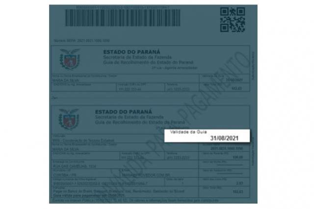 Boletos de taxas e tributos passam a ter data de vencimento no Paraná