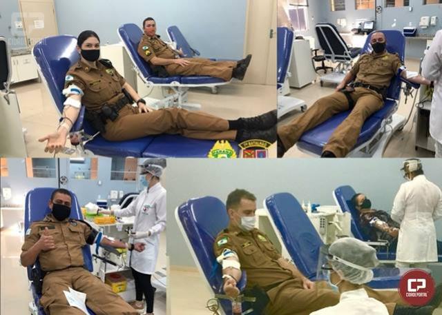 Comemorando os 52 anos do 7º BPM, Policiais realizam campanha de doação de sangue