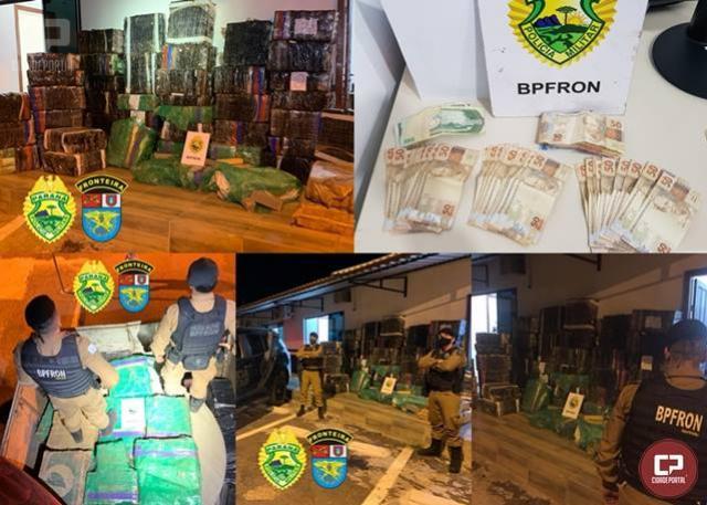 BPFron apreende cerca de 1,775 toneladas de maconha em Céu Azul