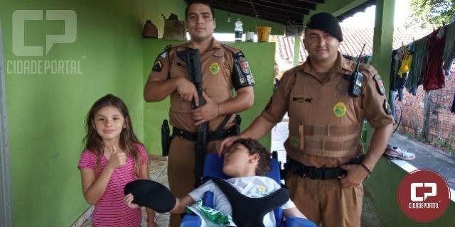 Polícia Militar de Cianorte atende uma solicitação diferente na tarde de quarta-feira, 29