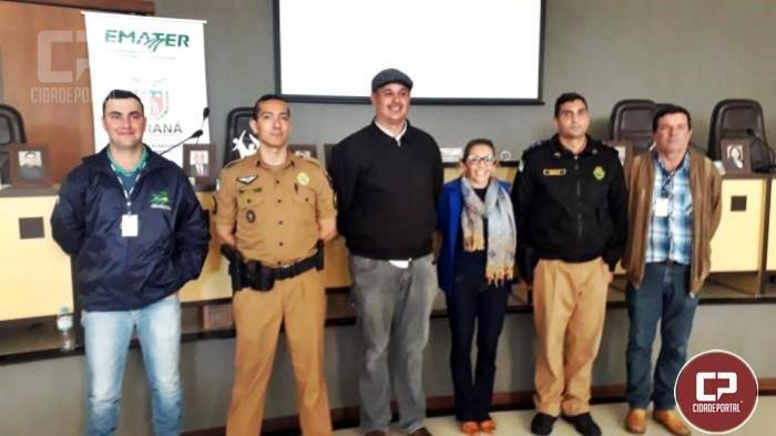 Policiais do 7º BPM realizam palestra sobre segurança da família e da propriedade rural