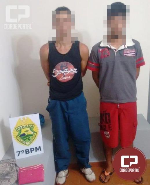 Duas pessoas foram presas em flagrante pela Polícia Militar por arrombamento em Moreira Sales