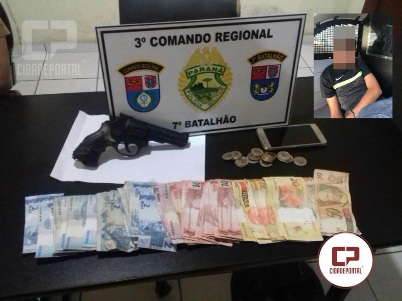 Polícia Militar de Moreira Sales prende autor de assalto em Posto de Combustível