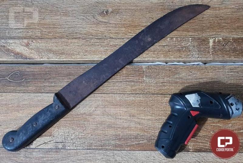 Uma pessoa foi presa por porte ilegal de arma Brancaem Ubiratã pela Polícia Militar