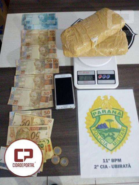 Após denuncia Polícia Militar de Ubiratã prende uma pessoa em posse de mais de 2 KG de Crack