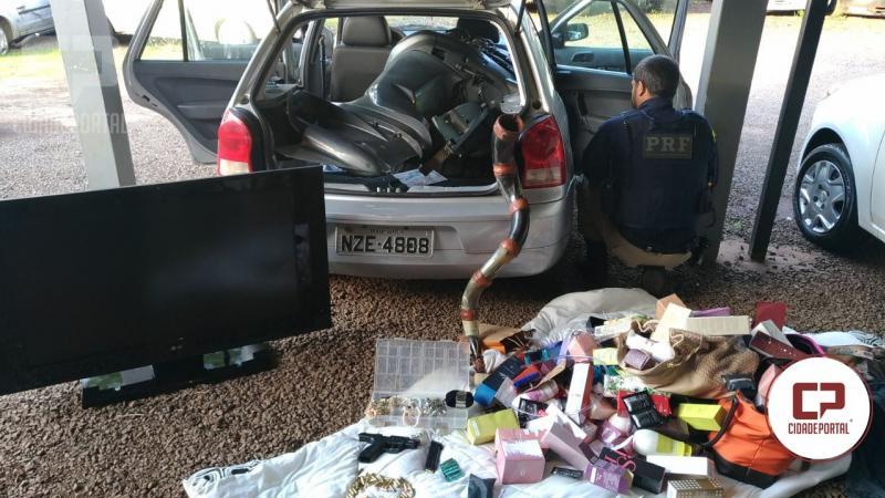 Polícia Rodoviária Federal recupera veículo e objetos que foram furtados em Martinópolis - SP