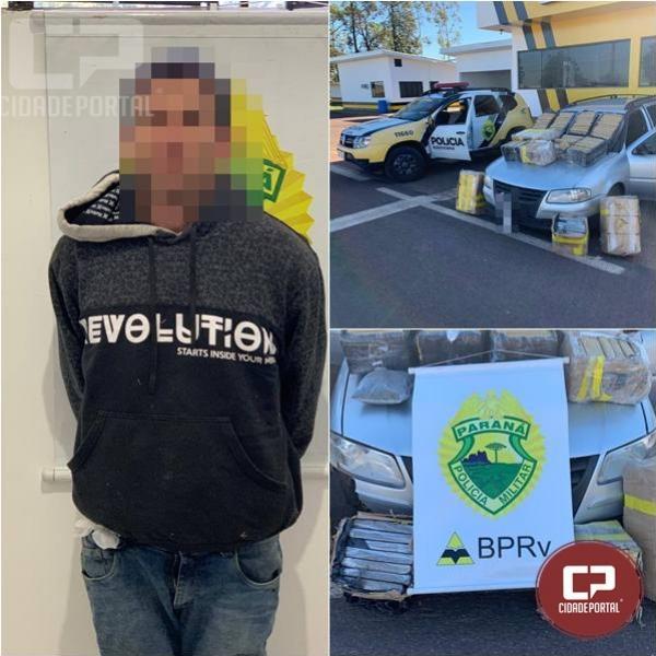 PRE de Cruzeiro apreende 260 kg de entorpecentes na PR-323