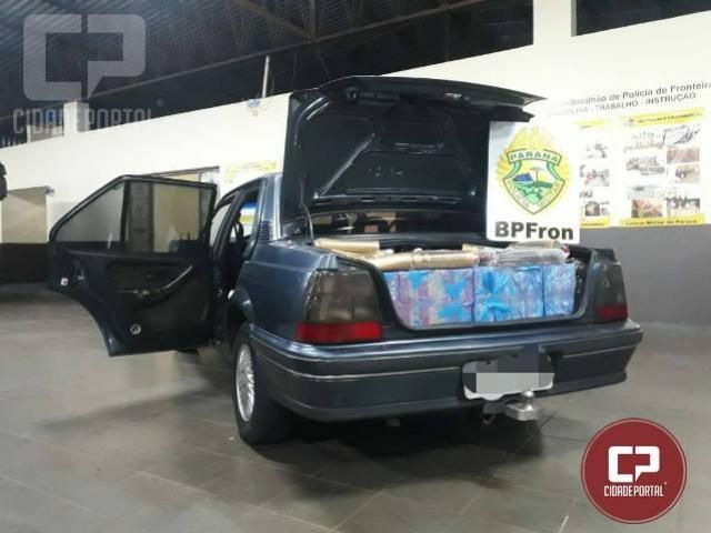 BPFron apreende veículo carregado com contrabando em Iporã - PR