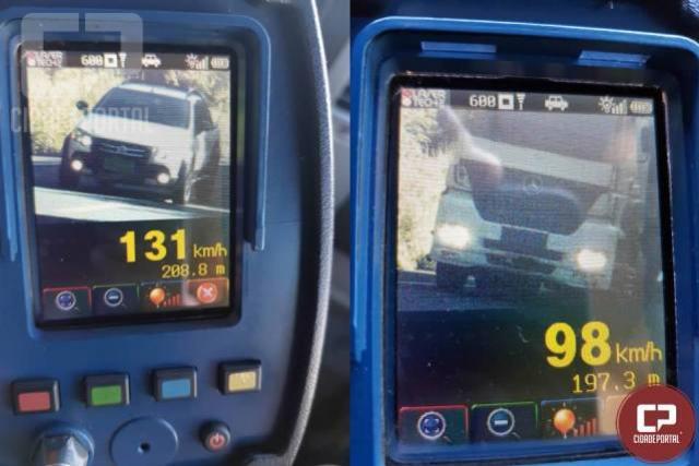 Em operação Radar entre Cafezal do Sul e Iporã, 20 motoristas foram autuados pela PRE