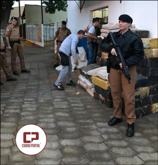 Polícia Militar apreende mais de uma tonelada de drogas e também armas escondidas em Área de Zona Rural de Marilena no Paraná
