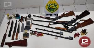 Polícia Militar apreende armas e munições após discussão em Tuneiras do Oeste