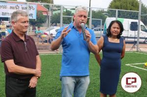 Douglas Fabrício inaugura Arena Esportiva  e entrega ambulância em Janiópolis
