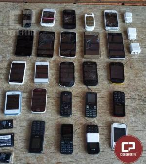 Operação Bate Grade na cadeia de Goioerê apreende celulares, baterias e carregadores