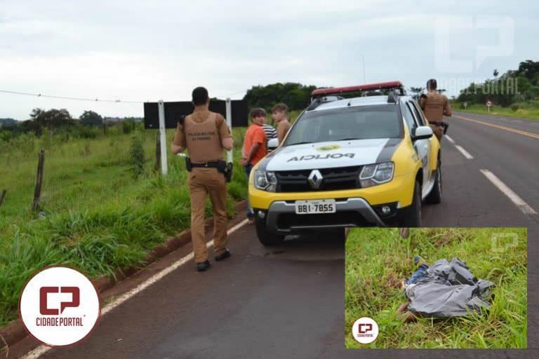 Adolescente é morto a tiros em Janiópolis as margens da BR-272