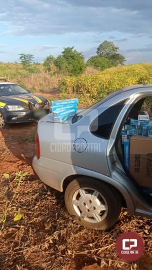 PRF apreende veículos carregados com cigarros e eletrônicos em Janiópolis