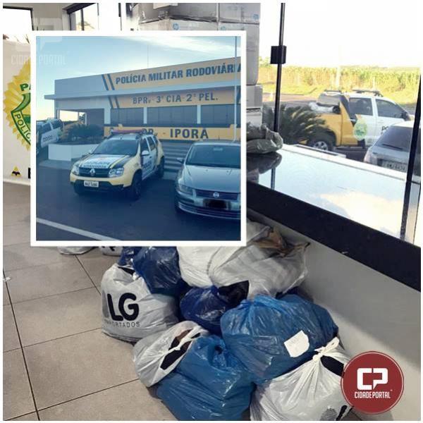 Polícia Rodoviária Estadual de Iporã apreende veículo com mercadorias contrabandeadas