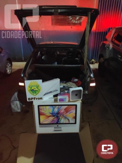 Operação registra apreensão de produtos oriundos do Paraguai em São Miguel do Iguaçu-PR