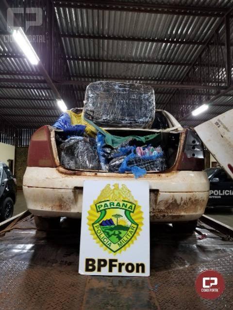 BPFron apreende veículo carregado com contrabando em Guaíra-PR